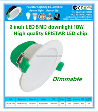 promotion smd day light dimmable 8 led retrofit downlight 70w