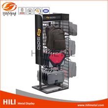 Metal Wire Rack Supermarket Bag Stand Floor Display