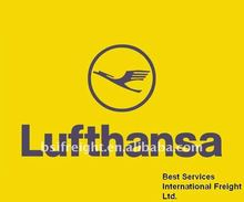 Air shipping service from Guangzhou/Shenzhen/Hongkong China to Manchester United Kingdom by Luthansa
