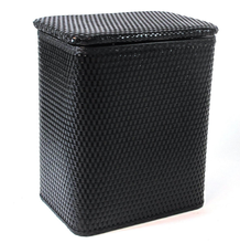 Superior quality Europe style black wicker laundry basket for kids with lid
