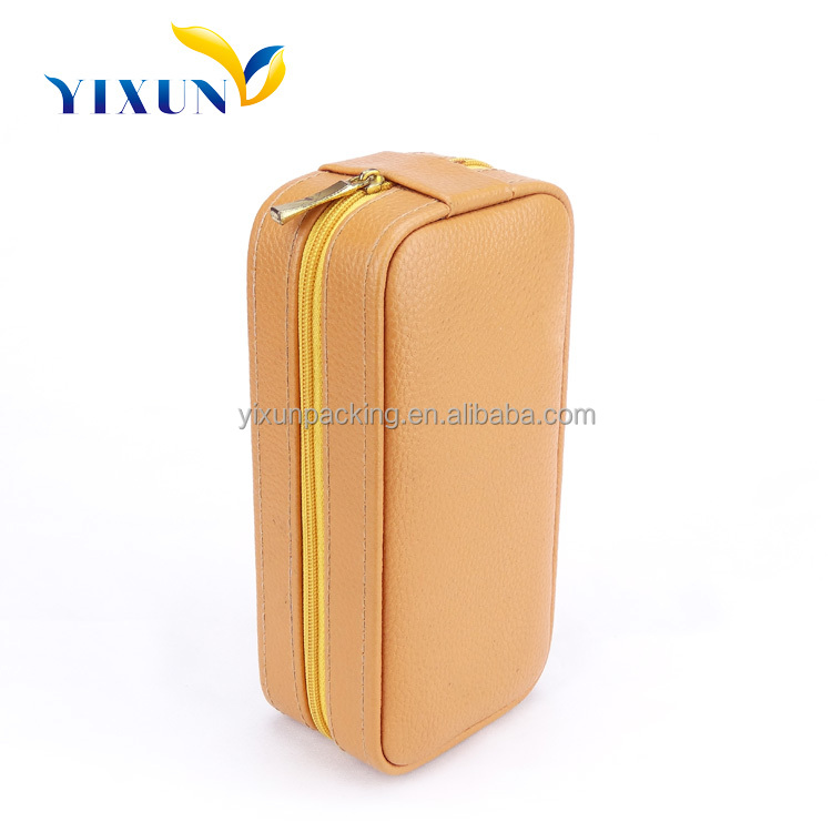 China Manufacture personalized Single Travel Leather Watch Case