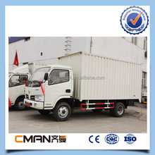 Hot selling DongFeng 4X2 mini refrigerator van box truck /mini box van truck for sale