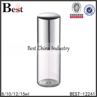 5ml 10ml 1 / 3 oz clear glass roller bottles in china