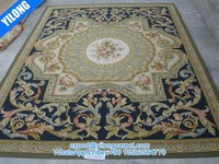 100% New zealand wool chinese wool and silk carpet (yt-061b)