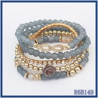 Ex-works Price Mixed Order handmade wide resin bead landing bangles wholesale