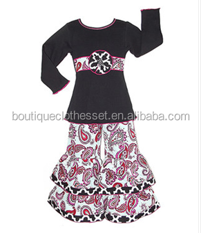 kids fall clothing sets girls smocked ruffle pants outfits fall persnickety girls set
