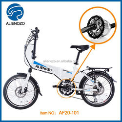 2 wheels battery powered brushless motor adult electric bike, electric motor folding bike ,