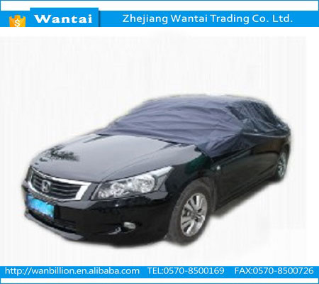 170T polyester waterproof color-resistant snowproof hot sale popular half car cover