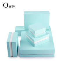 Oirlv Wholesale Cheap Custom Logo Cardboard Jewelry Packaging Ring Necklace Pendant Bracelet Jewelry packing Paper Gift Box
