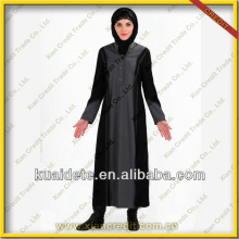 2014 Latest Dubai Abaya Islamic Abaya Designs Dubai Abaya for Women KDT1006 with lowest price