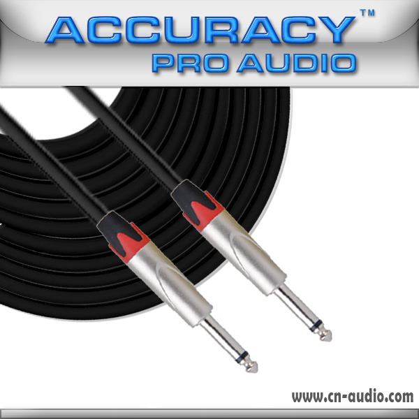 "Accuracy Pro Audio 1/4"" to 1/4"" Guitar Cable , Audio Cable IC166-10FT"