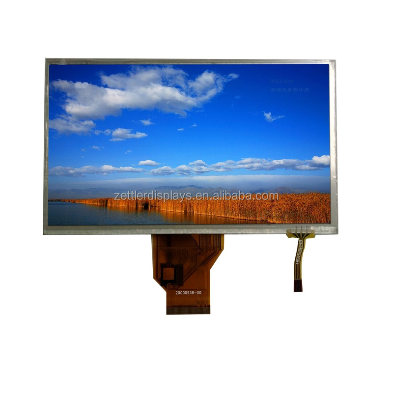 lcd display 7 inch 800x480 resistive touch with RGB interface