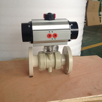 POV Shanghai 2 way plastic PPH steam ball valve flanged PN6.3MPa