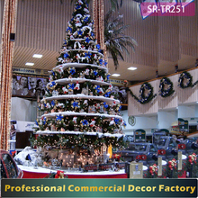 NEW 20ft 30ft 40ft pre lit indoor christmas tree with toys decoration for shopping mall