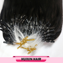 Factory Direct Natural Straight Wholesale Micro Ring/Micro Loop/Micro Bead Hair Extensions 100% Virgin Human Hair