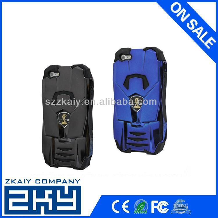 Protective car shape 3d silicone mobile phone cover for iphone 4