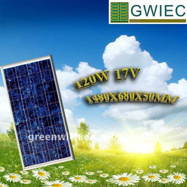 PHOTOVOLTAIC CELL PANEL 120W Polycrystalline