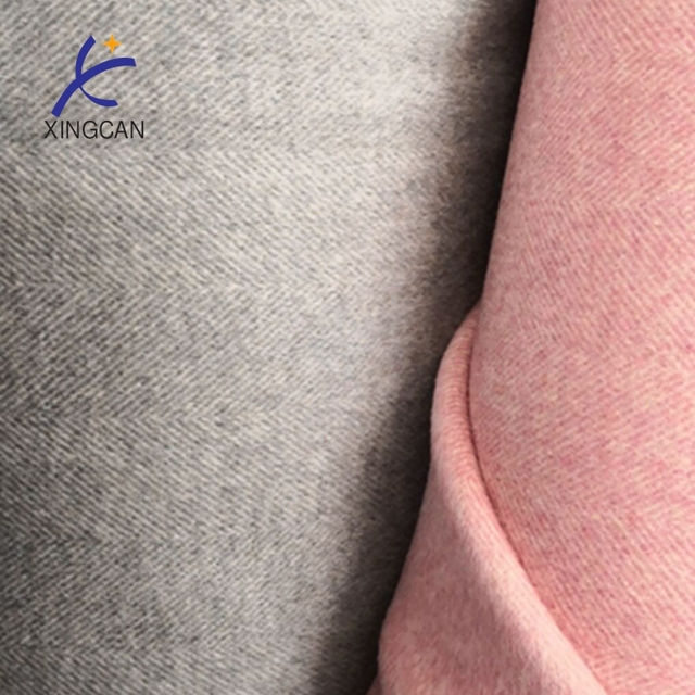 Wholesale fashion cheap pink color wool blend cashmere fabric