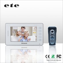 High definition 7 inch video door bell intercom 12v dc 220ac visual doorbell