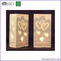 cheap frame retardant luminary paper candle bags wholesale