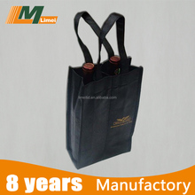 high quality factory sale non woven bag for bottle , non woven tote bag for wine & beer