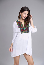 good quality Plus size Clothing Women Casual Cotton Dresses Women Sexy Loose Dress