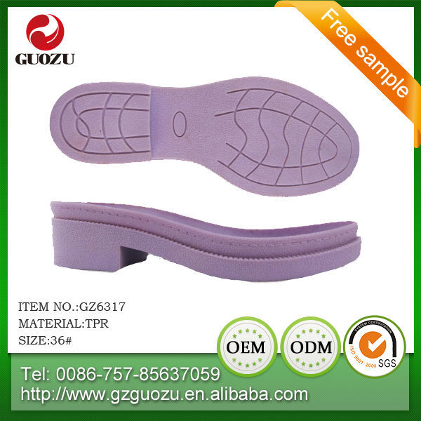 ladies superior quality oil resistanceoil tpr outsole