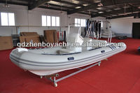 RIB inflatable console pvc hypalon boat