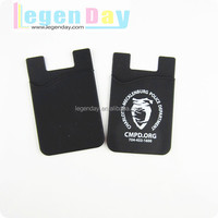 Printed Logo Wallet Holder Silicone Phone Pouch,Rubber Smart Case Wallet For Phone
