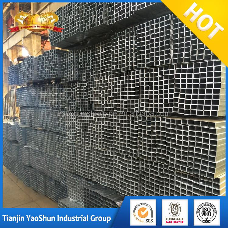 pre galvanized hollow section square iron steel bar tube pipe