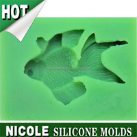 Q0001 fish shape Nicole sugar fondant cake decoration silicone cake molds