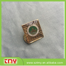 Customized round badge lapel pin with customized logo