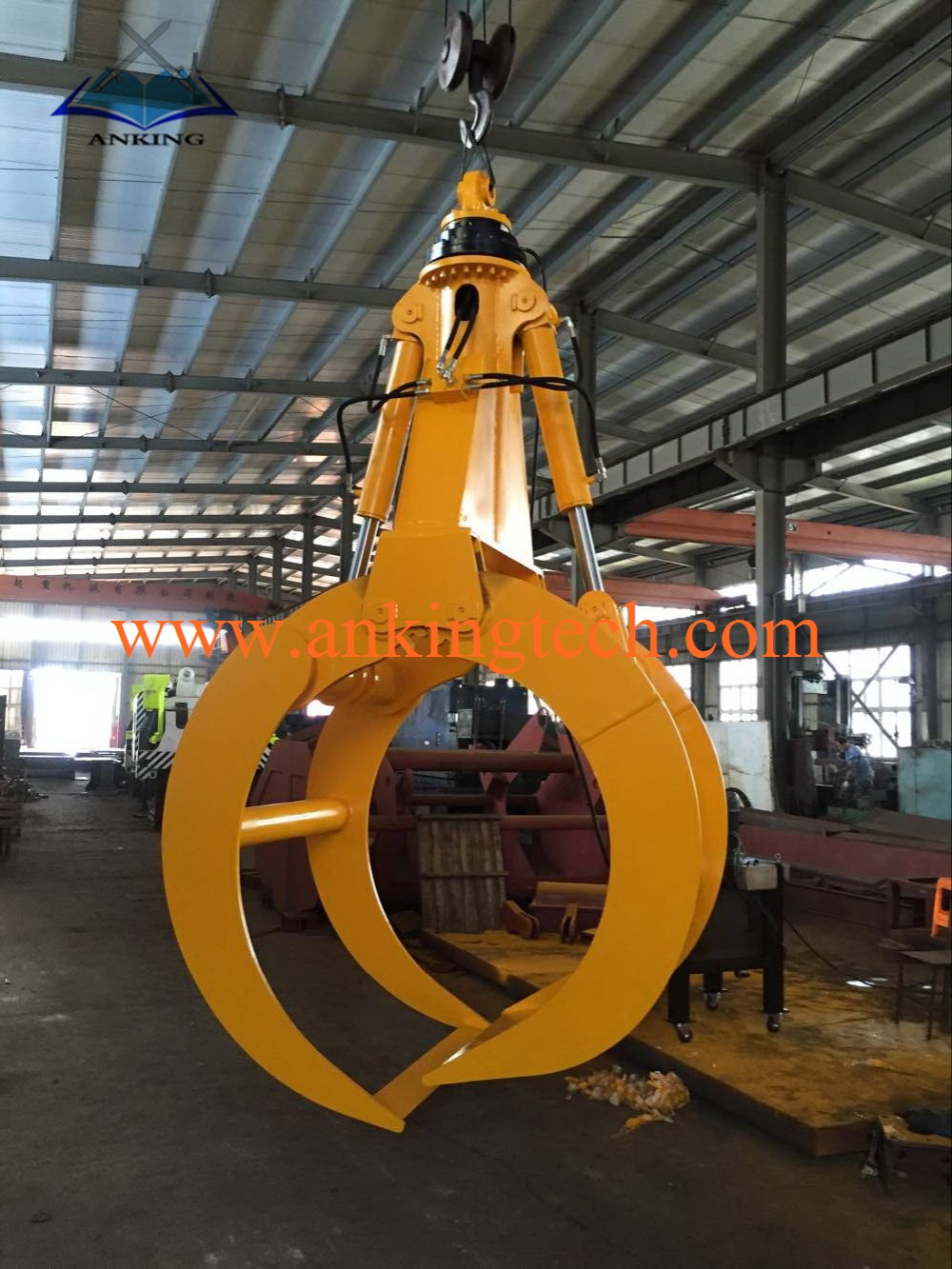 360 degree Rotating Hydraulic Wood Grab Bucket For 1-50 Excavator Grapple