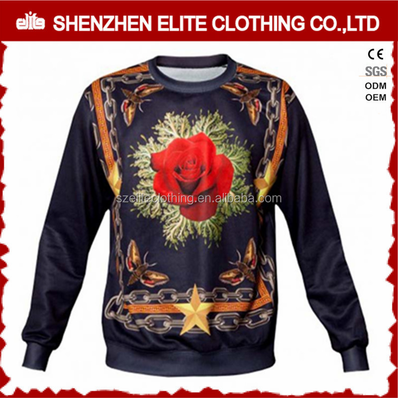 small quantity printed full dye sublimation sweatshirt christmas