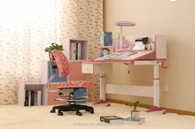 Adjusting height study desk table and school type children desk table for kids