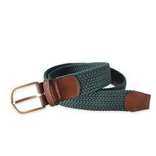 Customized hot sell gold buckle men webbing elastic belt