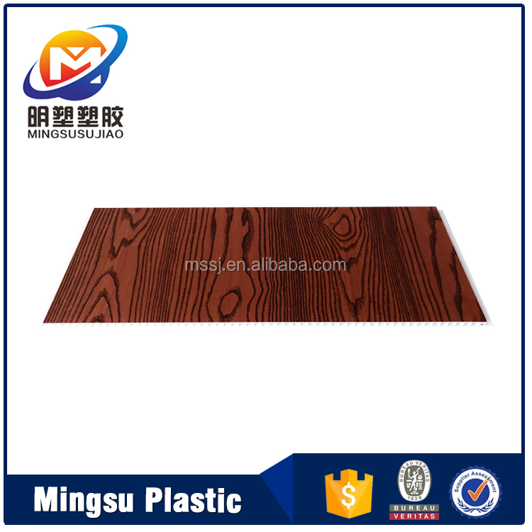 wooden design PVC wall and ceiling panel for office decoration