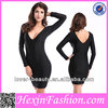 Wholesale Young Lady Black Cheap Western Party Wear Dresses