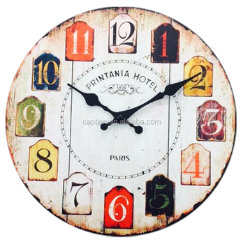creative home decoration custom MDF wall clock