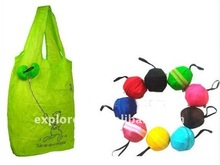 Foldable polyester shopping bag with logo