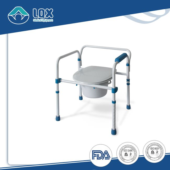 mobile commode plastic chair