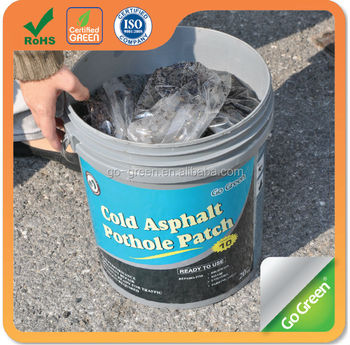 Go Green asphalt pothole repair/all weather to use cold mix asphalt