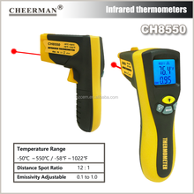 CH8550 Digital LCD -50 To 550 Degree Non-Contact Industrial Pyrometer Laser IR Infrared Point Temperature Thermometer Tester Gun