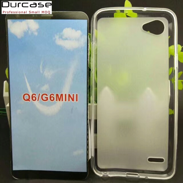 Mobile Phone Soft Clear White TPU Case For LG Q6/G6 mini,Back Cover For LG Q6