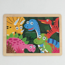 15 Pieces dinosaurs Jigsaw puzzle wood toy