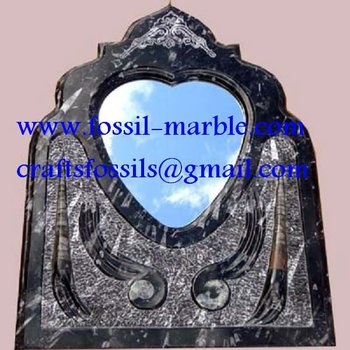 handicrafts mirrors fossilized marble