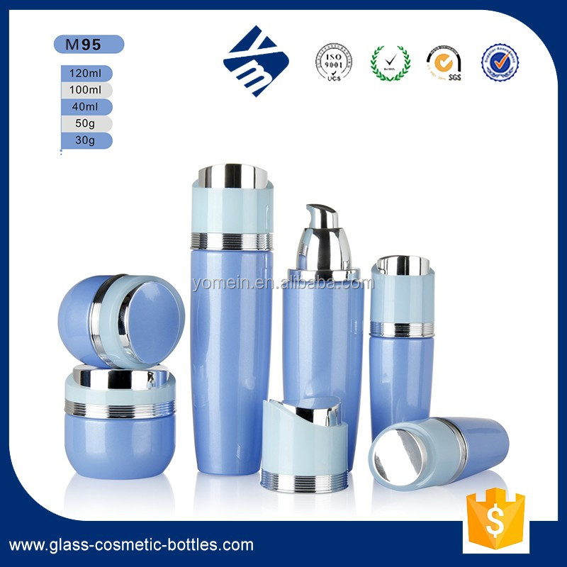 100ml empty aluminum cosmetic packaging bottle with pump