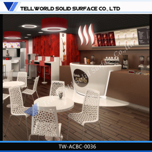 Tell World exclusive Custom Cafe bar furniture wood coffee bar counter design