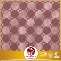 Yarn dyed jacquard dot design 100% polyester table cloth fabric