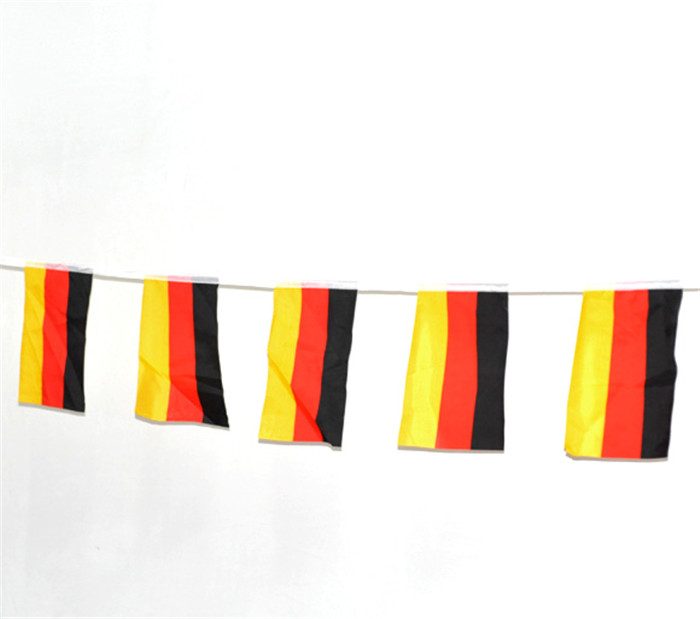 Party Decorations German Flag Bunting 4.35M long Mini Flag Banner